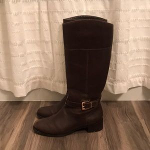 Banana Republic tall brown leather boots